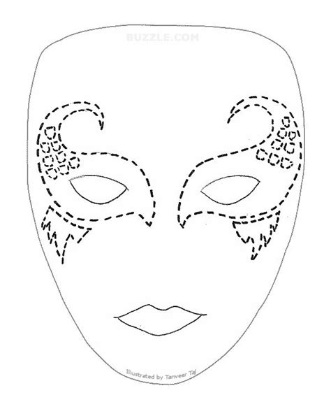 mermaid mask buzzle com printable templates mask it