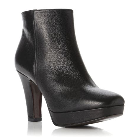 black leather ankle boots high heel pied a terre snyders black leather high heel womens