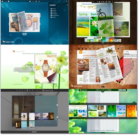 book layout template pdf various new online flip book templates with fresh layout