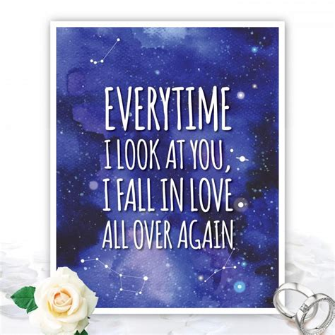 Wedding Car Decoration Quotes by Everytime I Look At You I Fall In Quote Quote