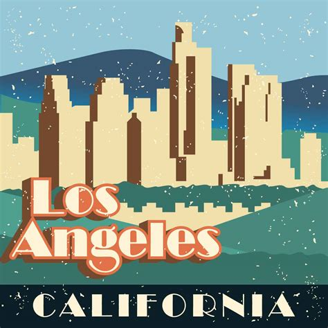vintage ls los angeles vintage los angeles illustration download free vector