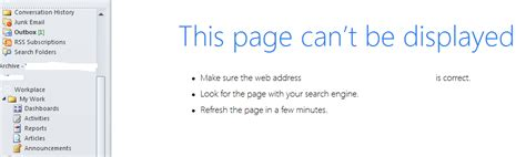 that page can t be quot this page can t be displayed quot error while trying to access crm 2015 via outlook