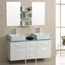 56 bathroom vanity double sink 56 5 quot maybell double sink vanity white bathgems com