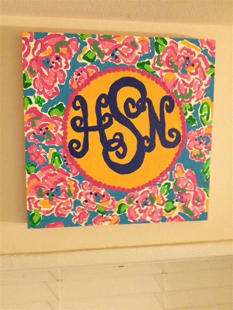 lilly pulitzer home monogram lilly pulitzer print plaque diy to try pinterest