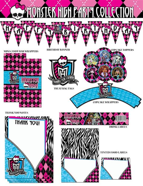 monster high printable patterns templates pinterest