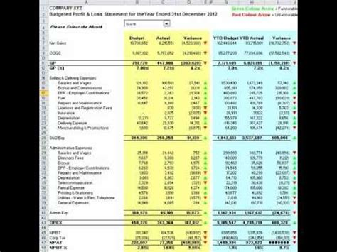 profit and loss statement template excel free profit and loss