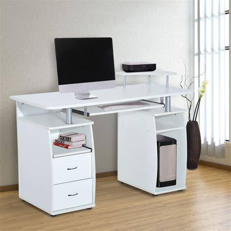 ordenador de escritorio homcom mesa de ordenador escritorio para oficina color