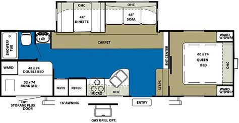 5th wheel cer floor plans wildwood fifth wheel floor plans 2011 forest river wildwood 26ddss fifth wheel riceville