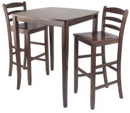 Dining Table With Bar Stools Winsome 3pc Inglewood High Pub Dining Table With Ladder Back Stool By Oj Commerce 94379 370 25