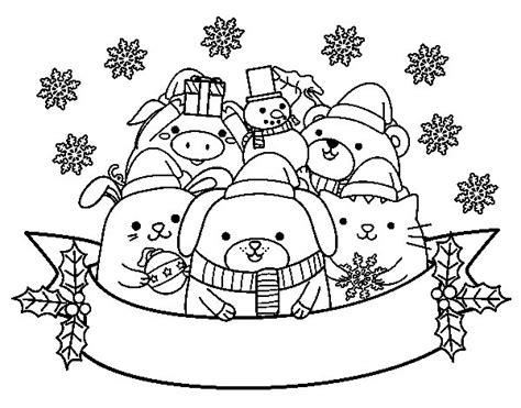 imagenes de navidad para colorear animadas disegno di animali di natale da colorare acolore com