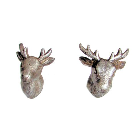 mr mrs stag deer metal door knobs furniture animal