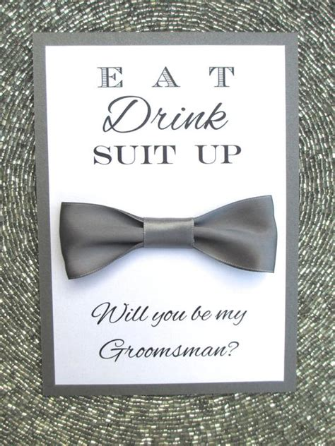 Will You Be My Groomsman Card Bow Tie Bridal Party Will You Be My Best Template