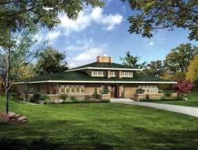frank lloyd wright prairie style house plans windows