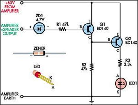 bd140 transistor circuit clipping indicator for audio lifiers bd140 circuit diagram world