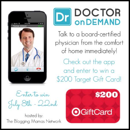 Doctors Giveaway - doctor on demand makes life a little easier 200 target gc giveaway