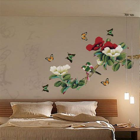 bird decorations for home blooms bird butterfly decorative diy removable wall