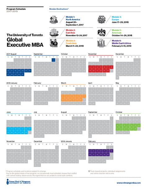 Unf Global Mba Schedule by Global Executive Mba Emba Rotman School Of Management