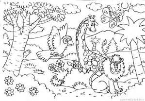 mewarnai gambar hewan kebun binatang mewarnai gambar