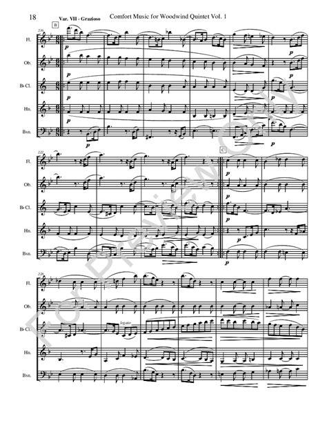 comfort song comfort music for woodwind quintet woodwind j w pepper