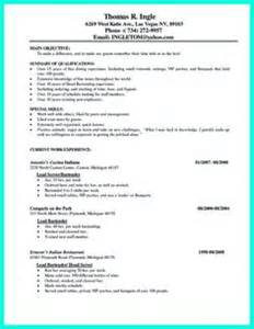 offers various bartender resume template and