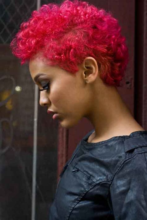 short hairstyles dyed red pictures of short hair for black women short hairstyles