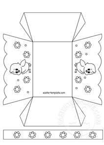 easter box templates free paper easter basket template printable easter template