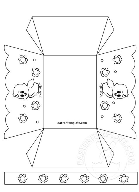 paper easter basket template printable easter template