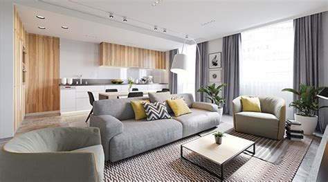 contemporary lounge crisp comfortable apartment designs
