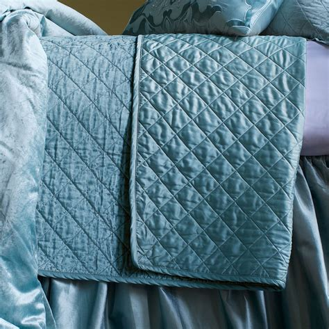 diamond quilted coverlet lili alessandra chloe diamond quilted seafoam velvet