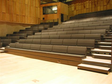 bench club club bench retractable bleacher auditorium seating