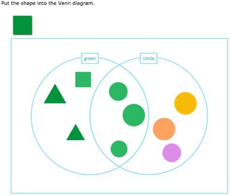 ixl sort shapes into a venn diagram year 2 maths practice