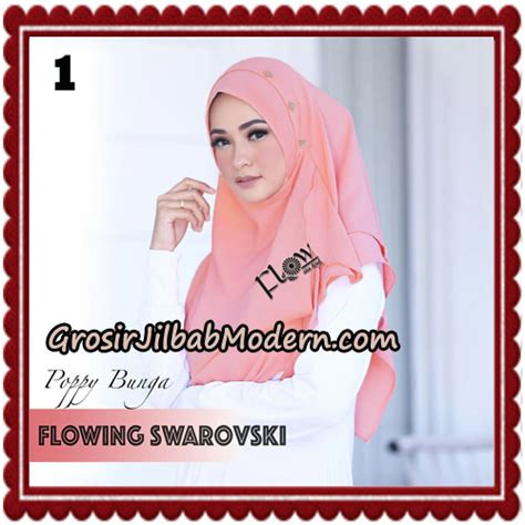 Jilbabhijab Prada Ori By Flow 1 jilbab instant flowing swarovski gold ala poppy bunga original by flow idea
