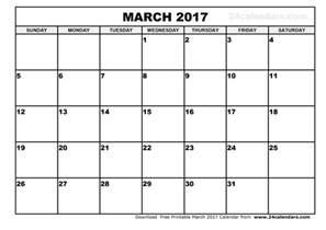 march 2017 calendar template weekly calendar template