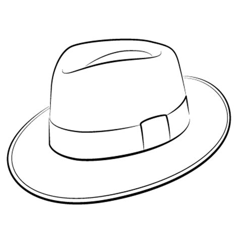 fedora hat template fedora hat drawing sketch coloring page