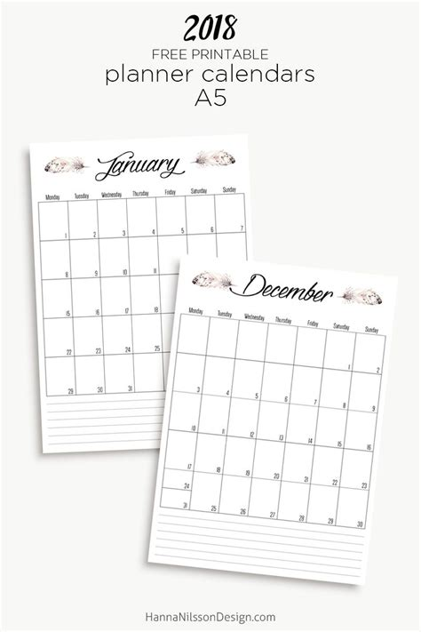 printable filofax personal year planner 2018 free printable yearly calendar planner inserts