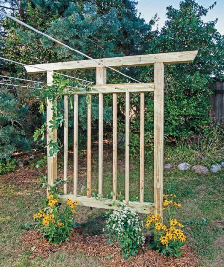 rose trellis plans free plans to build this diy trellis clothesline save
