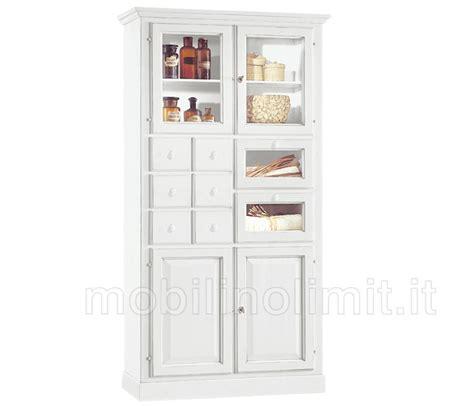 dispensa cucina arte povera dispensa da cucina 8 cassetti e 4 ante bianco opaco