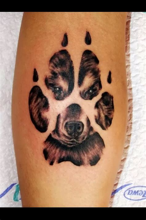 tattoo animal paws 40 amazing dog paw tattoo design ideas