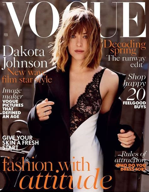 On The Cover Of Vogue This February by Dakota Johnson Fronts February Issue Of Vogue