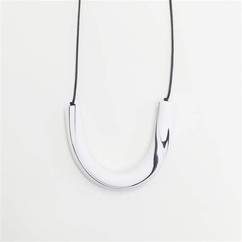white necklace pattern sea pattern white marbled bar necklace garmentory