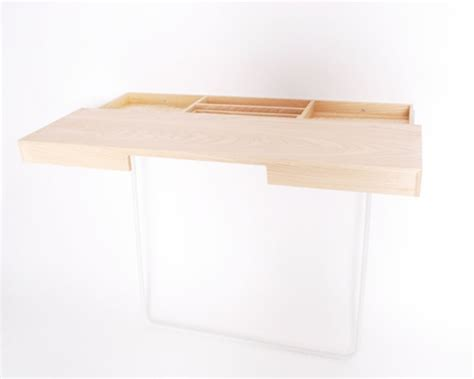 Minimalist Work Desk | minimalist work desk with a storage space inside digsdigs