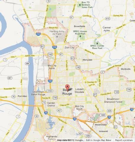 Map Of Baton Rouge Louisiana by Baton Rouge The Louisiana S Capital World Easy Guides