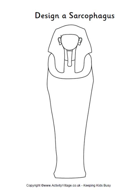 design a sarcophagus printable outline sarcophagus to