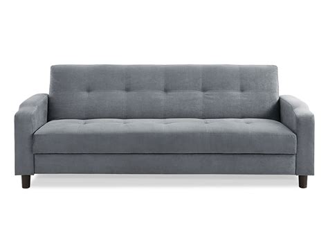 loveseat convertible reno convertible sofa dark grey by serta lifestyle