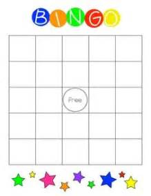 bingo board template word this document is a blank bingo board to use with
