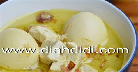 Menu Harian Praktis Lauk Sayur Dan Dessert opor kuning tahu telur diah didi s kitchen