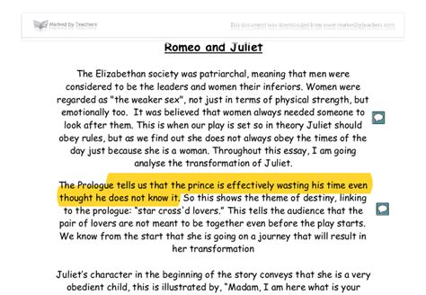 5 Paragraph Essay On Romeo And Juliet by Romeo And Juliet Essay Tips Critical Thinking Questions On Leadership Consultspark