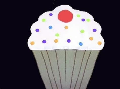 How To Make A Cupcake Out Of Paper - how to make a cupcake out of colored construction paper