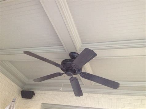 Coffered Ceiling With Ceiling Fan Pin By Kate Robertson On Ceilings