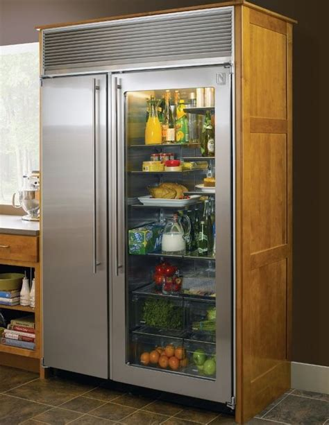 Small Home Refrigerator Simple Glass Door Refrigerator Use For A Small Living